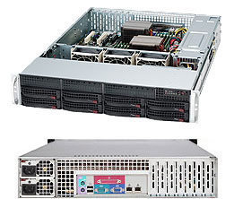 "Корпус SuperMicro CSE-825TQ-R720LPB 2U, 13.68""x13"", 8x3.5""' hot-swap SAS/SATA with SES2 + internal 2x3.5"", 7xLP, 437x89x648mm, redundant 720W"