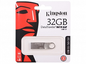 Внешний накопитель 32GB USB Drive <USB 3.0> Kingston DTSE9G2 (DTSE9G2/32GB)